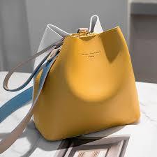 <b>2021 New PU Leather</b> Handbags Women Bucket Designer ...