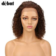 <b>Debut Lace Front Human</b> Hair Wigs Kinky Curly Wig Human Hair ...