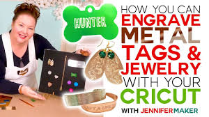 How to <b>Engrave</b> Dog Tags & Jewelry on a Cricut - YouTube