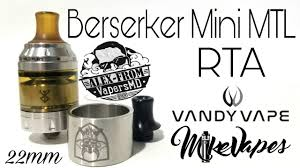 <b>Berserker Mini</b> MTL RTA by <b>VandyVape</b> & VapersMD - Build & Wick ...