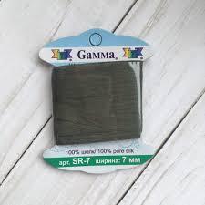 <b>SR</b>-<b>7 7</b> мм <b>Лента</b> декоративная <b>Gamma</b> шелковая №226 хаки ...