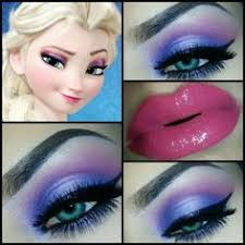 2016 disney eye makeup tutorials of princess elsa lip makeup