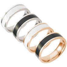 Ring Men Titanium Black Simple Fashion reviews – Online ...
