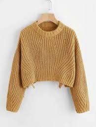 Sweet Round Neck Pure Color Jumper | Sweaters | <b>Свитер</b> ...