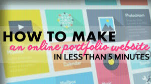 how to make an online portfolio website in less than minutes how to make an online portfolio website in less than 5 minutes