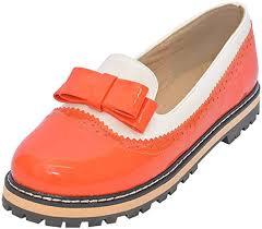 DoraTasia Women's Patent Leather Slip On Bowtie ... - Amazon.com