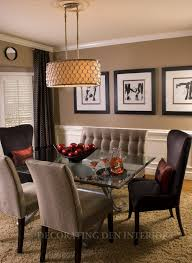 Dining Room Accent Furniture Dining Room With Dark Soft Neutral Color Scheme Piece Counter