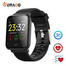 LEMADO <b>Q9</b> Blood Pressure Heart Rate Monitor <b>Smart Watch IP67</b> ...
