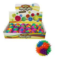 <b>1Toy Мяч массажный</b> Т59848 свет 6,3см   игрушки по оптовой ...