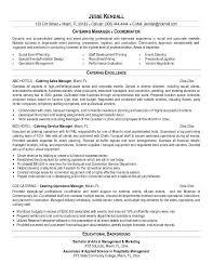 caterer resumefree resume templates