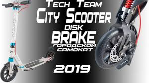 Городской <b>самокат Tech Team</b> TT <b>City</b> Scooter Disk Brake 2019 ...