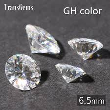 TransGems 1 <b>Piece 1ct Carat</b> 6.5mm GH Color Round Hearts and ...