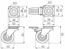 <b>Колесо поворотное</b> D-50мм прозрачное на <b>площадке</b> купить в ...