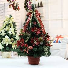 hot sale 30cm red christmas decoration flowerpot christmas tree office and house desk decoration artificial christmas tree christmas tree office desk