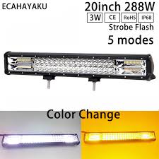 <b>ECAHAYAKU</b> High Intensity <b>20inch</b> Off Road LED Light Bar 6000K ...