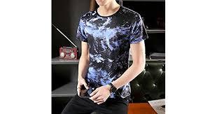 <b>2019 Summer</b> Men's Leisure <b>Ice Silk</b> T-shirt Men's Korean Version of ...