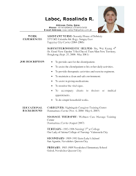 caregiver resume samples resume format  caregiver