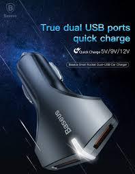 <b>BASEUS</b> Quick Charge 3.0 Автомобиля <b>Зарядное устройство</b> ...