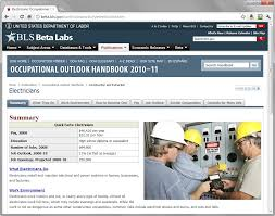 occupational outlook handbook bureau of labor statistics 2007 click to view full size image