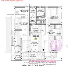 Flat roof house plan and elevation   Kerala home design and floor    Ground floor plan
