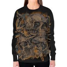 Заказать свитшот женский с полной запечаткой <b>Skull</b> Art ...