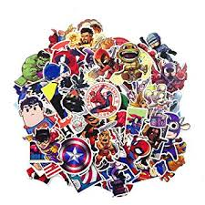 <b>100Pcs</b>/<b>Lot</b> Stickers <b>Marvel</b> Avengers Super <b>Hero</b> DC Comic Car ...
