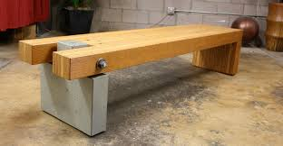 valley concrete bathroom ketchum ftc: concrete and wood bench concrete bench carpenter  concrete and wood bench