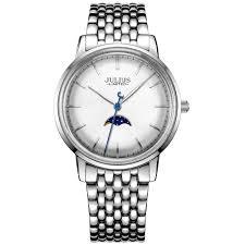 JAL-041 Couple Fashion Dial Business Watch White Woman ...