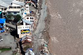 u s department of defense photo essay an aerial view showing flood waters have washed away all ground means to reach the people