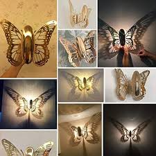 Modeling fgerga <b>New Creative</b> LED <b>Wall</b> Lamp Butterfly Lampshade ...