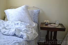 cottage fix blog shabby chic bedding blue shabby chic bedding