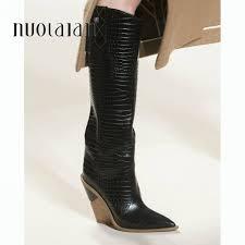 <b>brand</b> microfiber leather women knee high boots <b>sexy pointed toe</b> ...