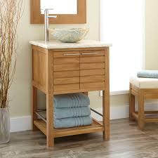 open bathroom vanity cabinet: quot salinas teak vessel sink vanity