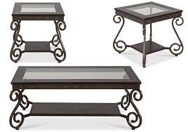 Saratoga 3-Pc Coffee Table Set - Lacks