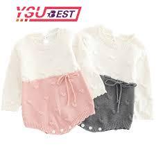 <b>Baby Knitted Clothes</b> Kids <b>Newborn Baby Girl</b> Bodysuits Princess ...