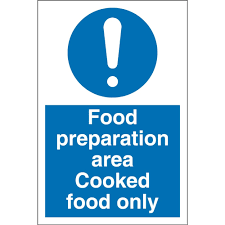 food preparation area cooked food only signs from key signs uk food preparation area cooked food only signs