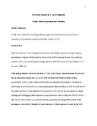 essay the great gatsby theme honesty integrity and morality showing page 1 7