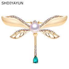 <b>SHDIYAYUN</b> New <b>Pearl</b> Brooch Crystals Flower Brooch For Women ...