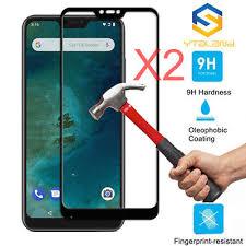2pcs full glue cover glass for xiaomi mi a3 screen protector tempered phone film