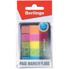 <b>Флажки</b>-<b>закладки Berlingo</b>, 45*12мм, 20л*5 неоновых цветов, в ...