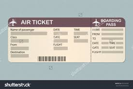 airline boarding pass ticket template detailed stock vector airline boarding pass ticket template detailed blank of airplane ticket vector illustration