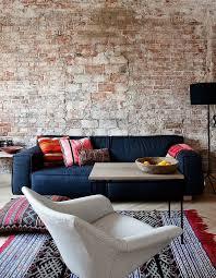sofa pillows living room furniture brick wall brick living room furniture