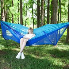 outdoor mosquito net automatic quick opening single double ultra light parachute cloth hammock anti rollover indoor swing