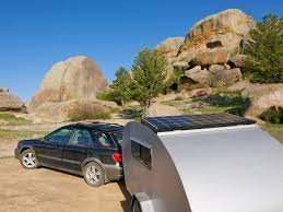 the teardrop sees america travels the blonde coyote vedauwoo rocks wyoming after getting my solar panel installed