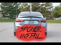2015 Infiniti <b>Q50</b> Lip <b>Spoiler</b> Install (EASY DIY!) - YouTube