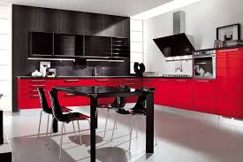modern red kitchen cabinets s small