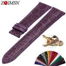 <b>ZLIMSN</b> Simple Fashion <b>Genuine Alligator</b> Strap 15 Colors Round ...