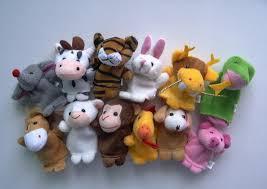7*9cm <b>12pcs/pack Cartoon Animal</b> Rabbit Dog Cow Pig Finger ...
