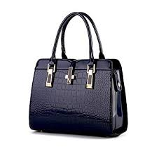 Di Grazia <b>Women's</b> Italian <b>Handbag</b>(<b>Crocodile Pattern</b>, Sapphire ...