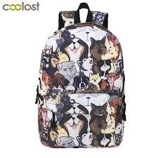 Cute Puppy Dog <b>Backpack</b> For Teenager Boys Girls <b>Children</b> ...